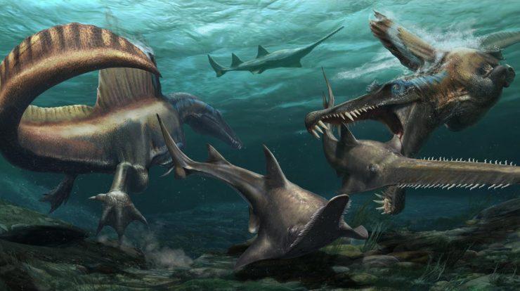 aquatic dinosaur